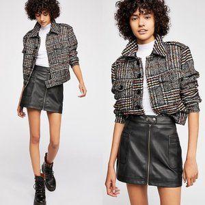 NEW Free People High Waist Vegan Leather Skirt 4